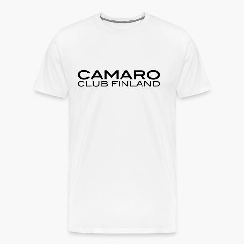 camaro txt blk - Miesten premium t-paita
