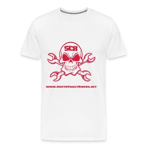 SCR SKULL V2 - Men's Premium T-Shirt