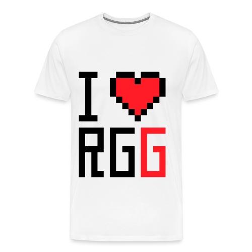 iheartrgg png - Men's Premium T-Shirt