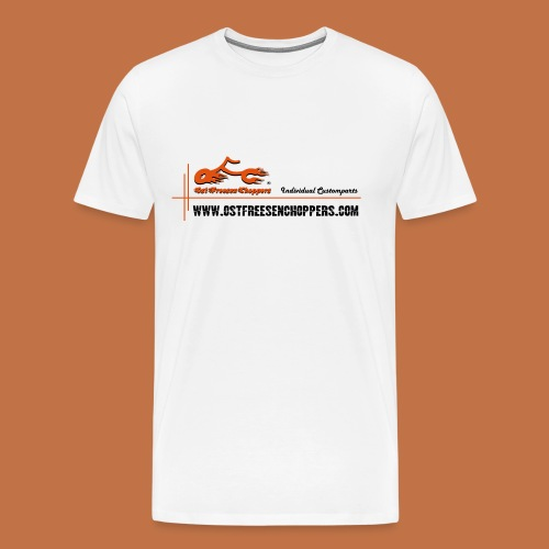 OFC Designlogo orangegrau 1 0 - Männer Premium T-Shirt