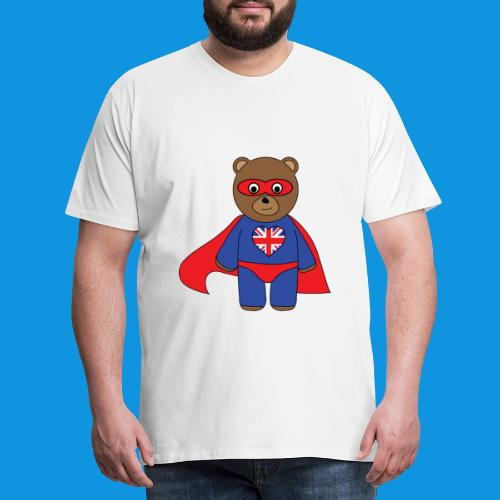 British Hero Bear tank - Men's Premium T-Shirt