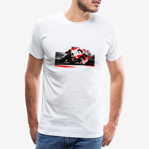 DM t shirt superbike red moto artwork png - T-shirt Premium Homme