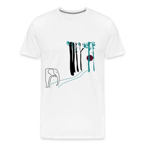 Elefant som går mot solen - Premium-T-shirt herr