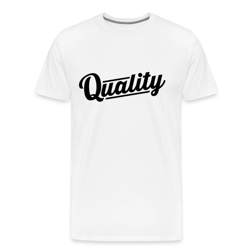 Quality Clothing Slanted BLK png - Men's Premium T-Shirt