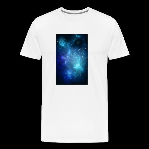 Blue galaxy wallpaper 31677 - Premium-T-shirt herr
