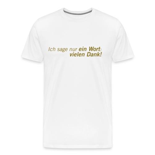 Fussball Fan Shirt - Andy Brehme - Danke! - Männer Premium T-Shirt