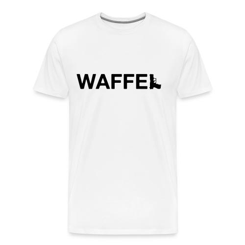 Waffel Waffe - Männer Premium T-Shirt