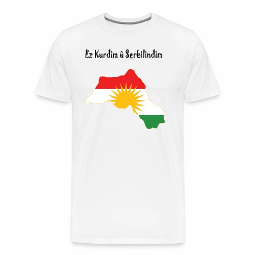 Ez kurdim u serbilindim - Premium-T-shirt herr