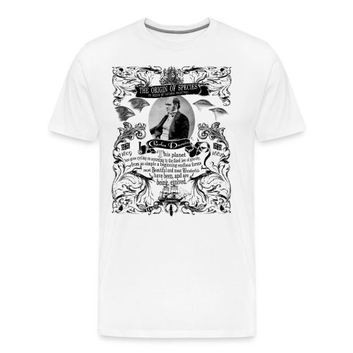 Charles Darwin Origin of Species - Men's Premium T-Shirt