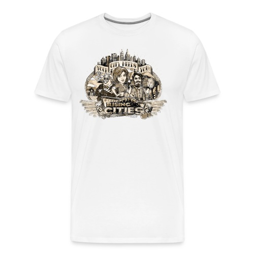 risingcities mb yourcityneedsyou distres - Männer Premium T-Shirt