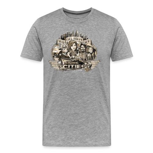 risingcities mb yourcityneedsyou distres - Männer Premium T-Shirt