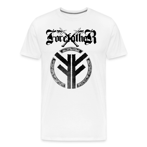 Forefather logo and symbol black - Men's Premium T-Shirt