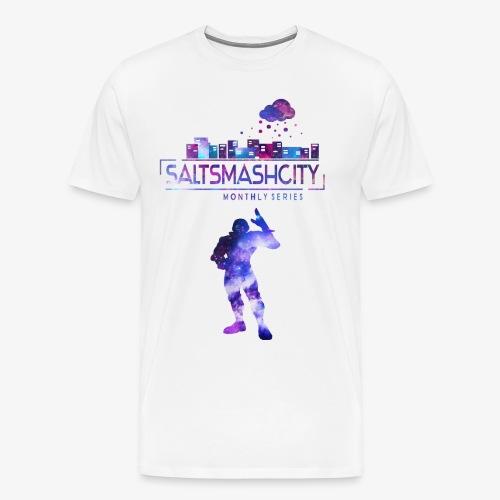 Salt Smash City Galaxy Falcon Blau png - Männer Premium T-Shirt
