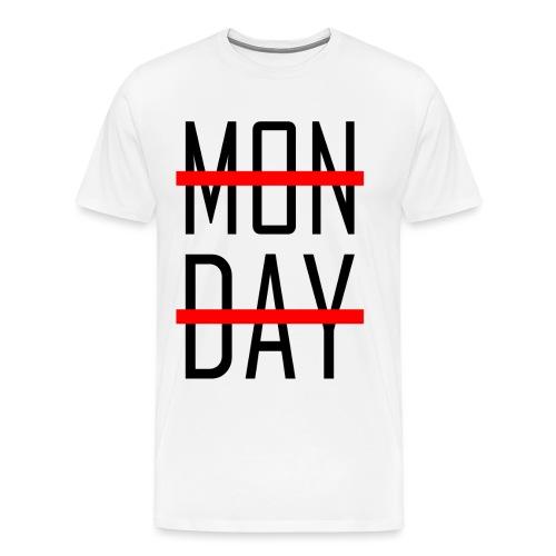 Monday redbig png - Männer Premium T-Shirt