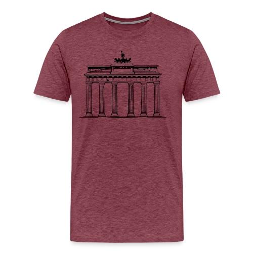 Brandenburger Tor Berlin Victoria Streitwagen - Männer Premium T-Shirt