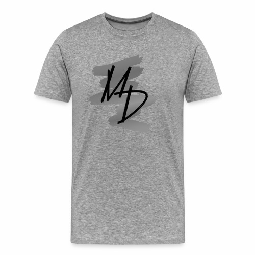 MD BRAND PNG b&w - Camiseta premium hombre
