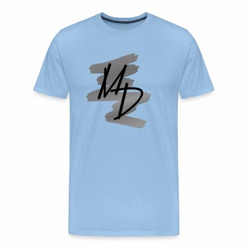MD BRAND PNG b&w - Camiseta premium hombre