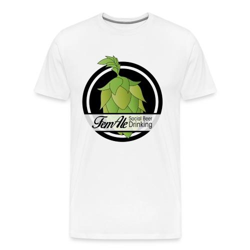 FemAle logo svart png - Premium-T-shirt herr