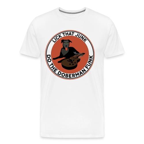 Dog playing funk - Premium-T-shirt herr