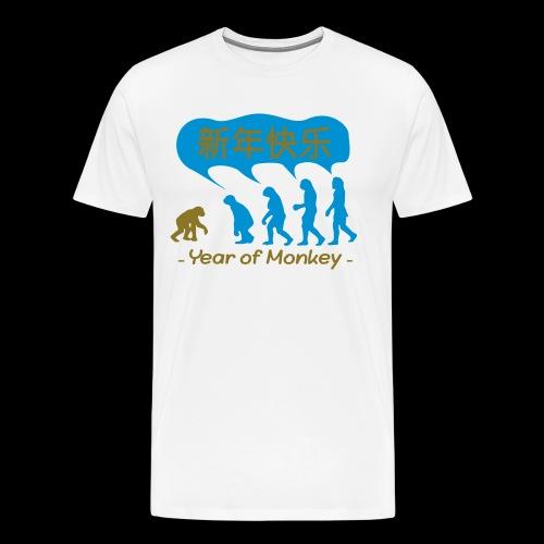 kung hei fat choi monkey - Men's Premium T-Shirt