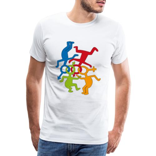 LOVE IS LOVE - Maglietta Premium da uomo