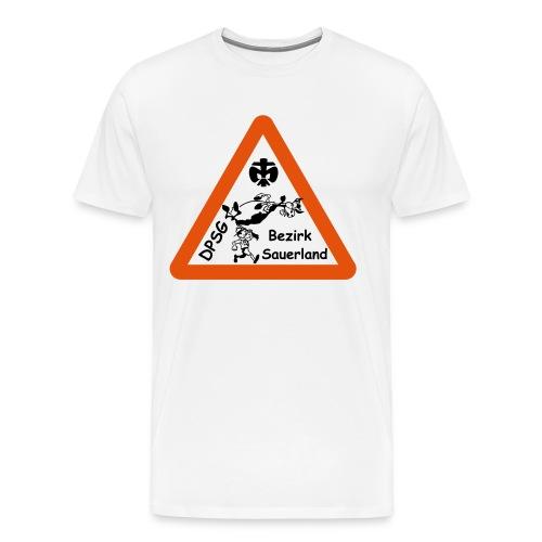 Logo Bezirk Sauerland mit Rahmen - Männer Premium T-Shirt