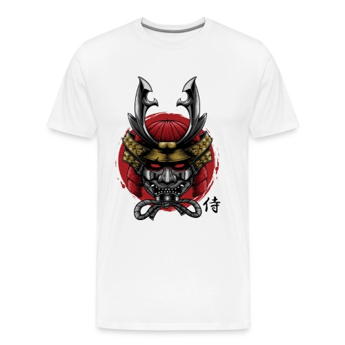 Samurai Head 01 png - Men's Premium T-Shirt