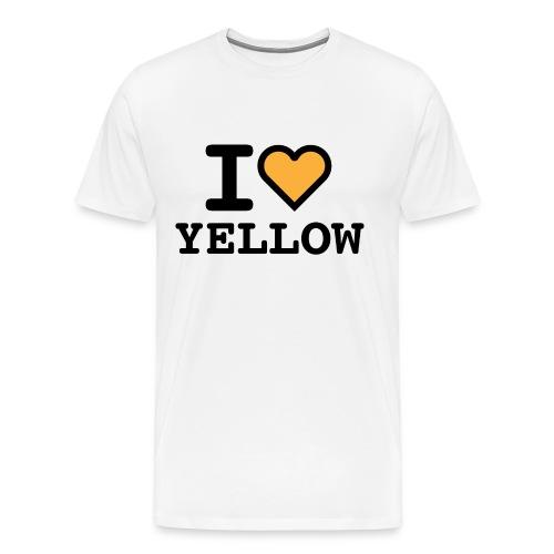 I love yellow - Maglietta Premium da uomo