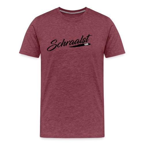 SCHRAALST zwart - Mannen Premium T-shirt