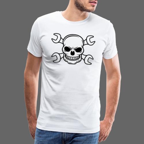 MEKKER SKULL - Herre premium T-shirt