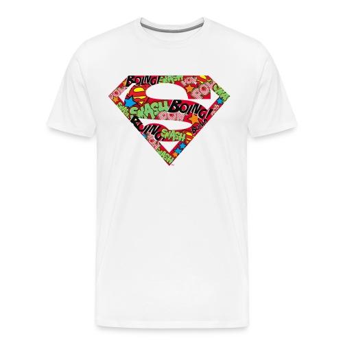 DC Comics Superman Logo Mit Lautmalerei - Männer Premium T-Shirt