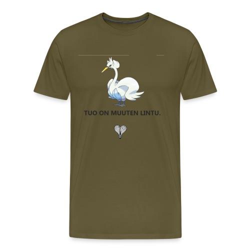 lintu - Miesten premium t-paita