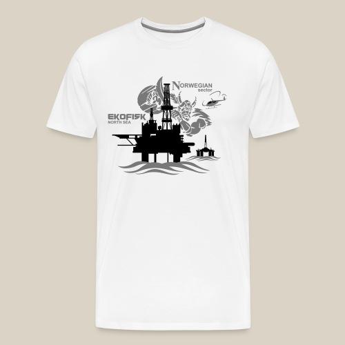 Ekofisk Oil Rig Platform North Sea Norway - Men's Premium T-Shirt