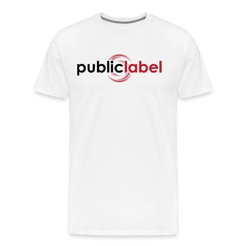 Public Label auf weiss - Männer Premium T-Shirt