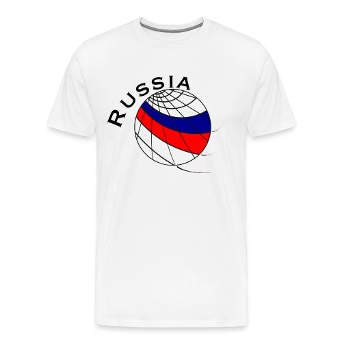 Russland Fußballmotiv - Camiseta premium hombre