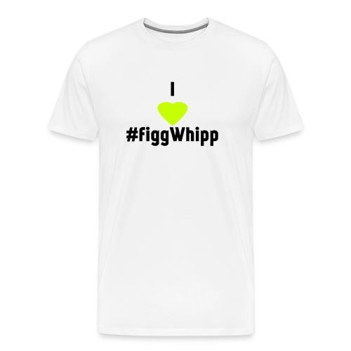 I heart figgwhipp black - Premium-T-shirt herr