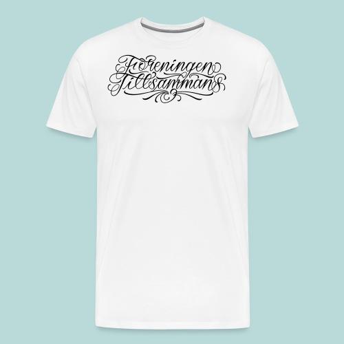 foreningen tillsammans vit v2 - Premium-T-shirt herr