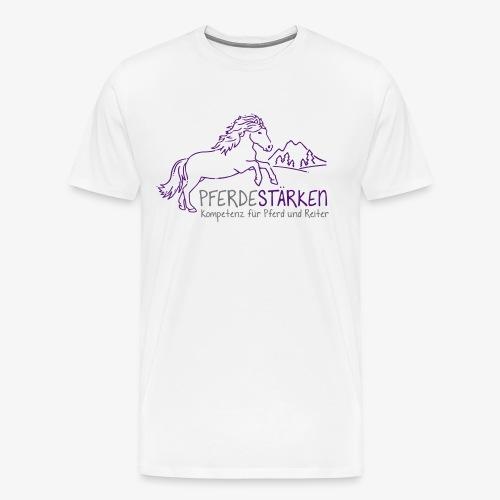 mareike pferdestaerken logo fin3 spreadshirt - Männer Premium T-Shirt