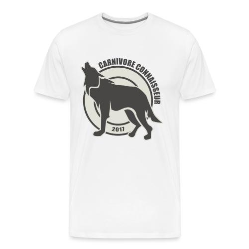 Fleischfresser - Grillshirt - Der mit dem Wolf heu - Männer Premium T-Shirt