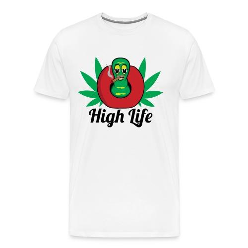 High Life Worm - Men's Premium T-Shirt