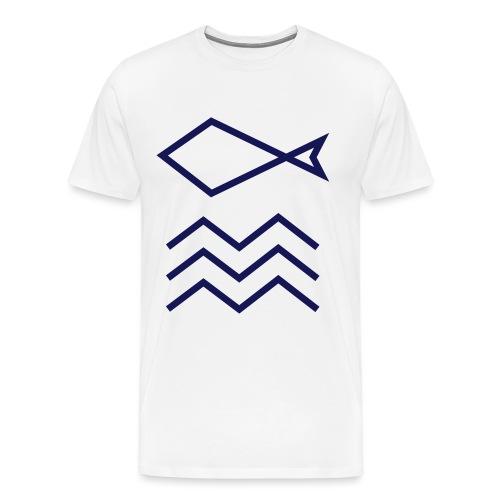 FISH&WAVE SHIRT CLASSIC - Herre premium T-shirt