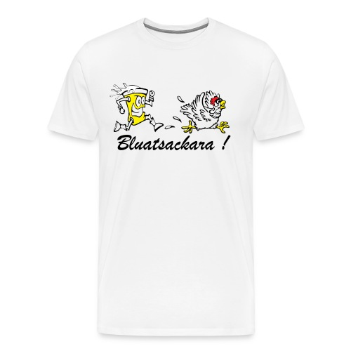 bluatsackara shirt 2 png - Männer Premium T-Shirt