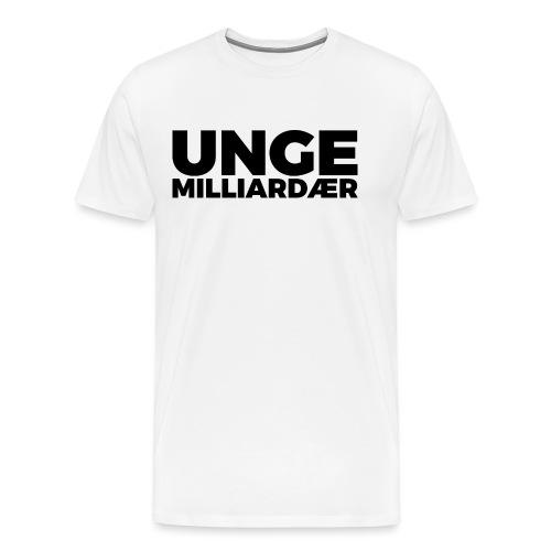 unge-mill-logo-svart - Premium T-skjorte for menn