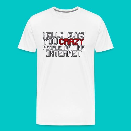 CRAZY - MEN'S T-Shirt Design - Men's Premium T-Shirt