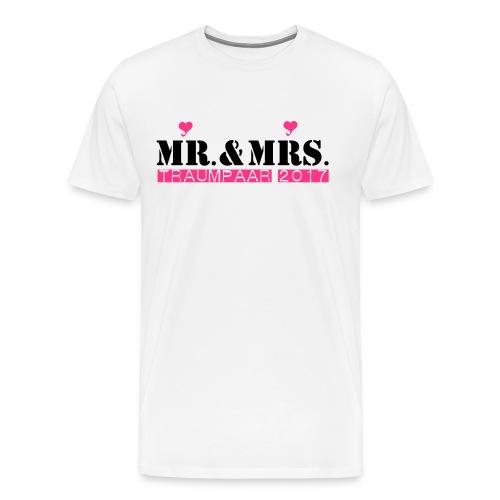 Mr und Mrs Traumpaar 2017 - Männer Premium T-Shirt
