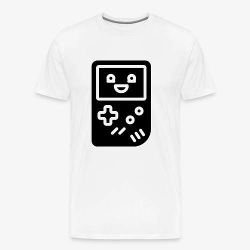 Smiling game console (black, inverted) - Men's Premium T-Shirt