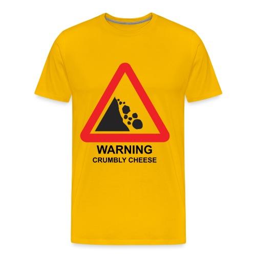 WARNING: CRUMBLY CHEESE - Men's Premium T-Shirt