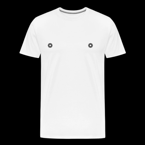 KUGELLAGER x NIPPEL x SCHWARZ - Männer Premium T-Shirt