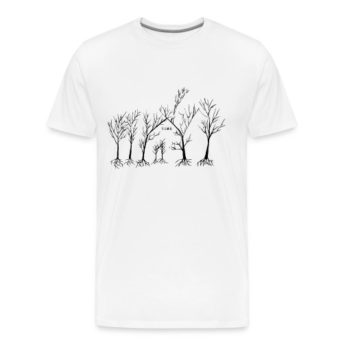 Home In The Woods - Herre premium T-shirt