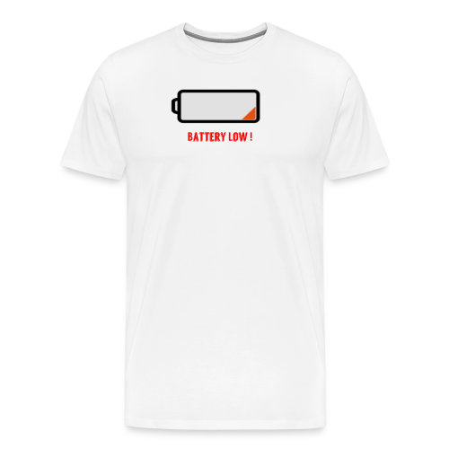 Battery Low - Männer Premium T-Shirt